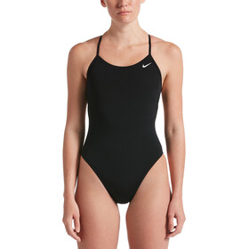 Nike Swim Hydrastrong Soldis Lace Up Tie Back One Piece Swimsuit Women black